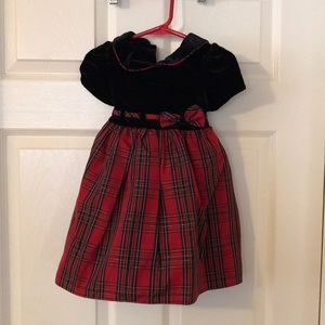 Goodlad girls Christmas dress with bloomers, 2T